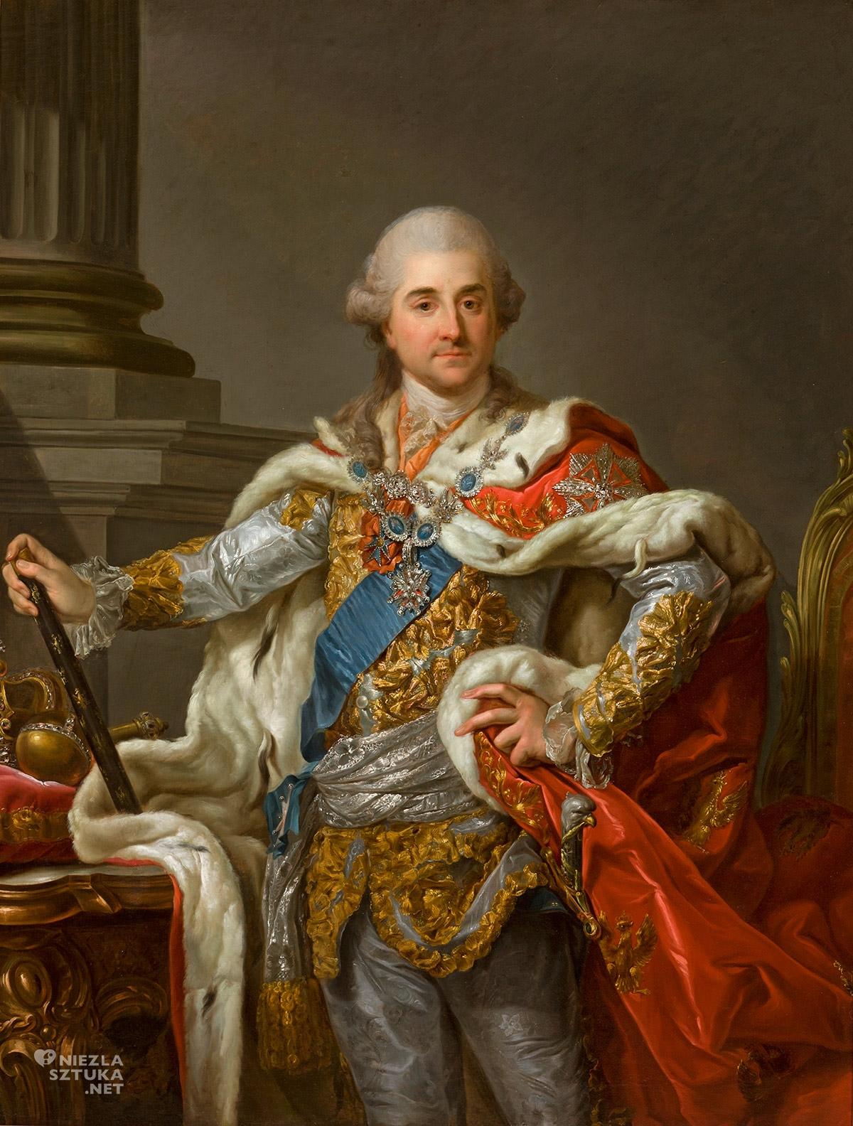 Marcello Bacciarelli, Portret koronacyjny Stanisława Augusta Poniatowskiego, Stanisław August Poniatowski, Niezła sztuka