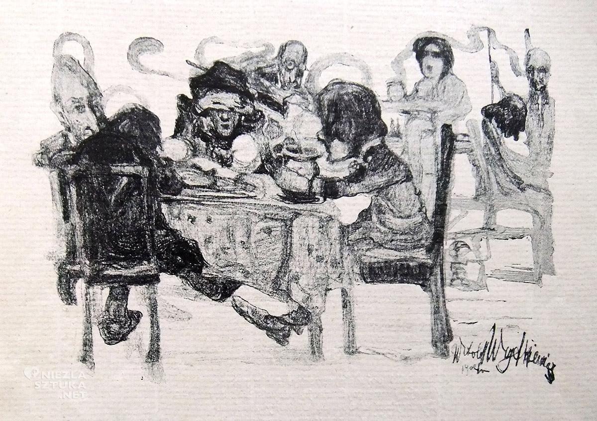 Witold Wojtkiewicz, w kawiarni, sztuka polska, Niezła sztuka
