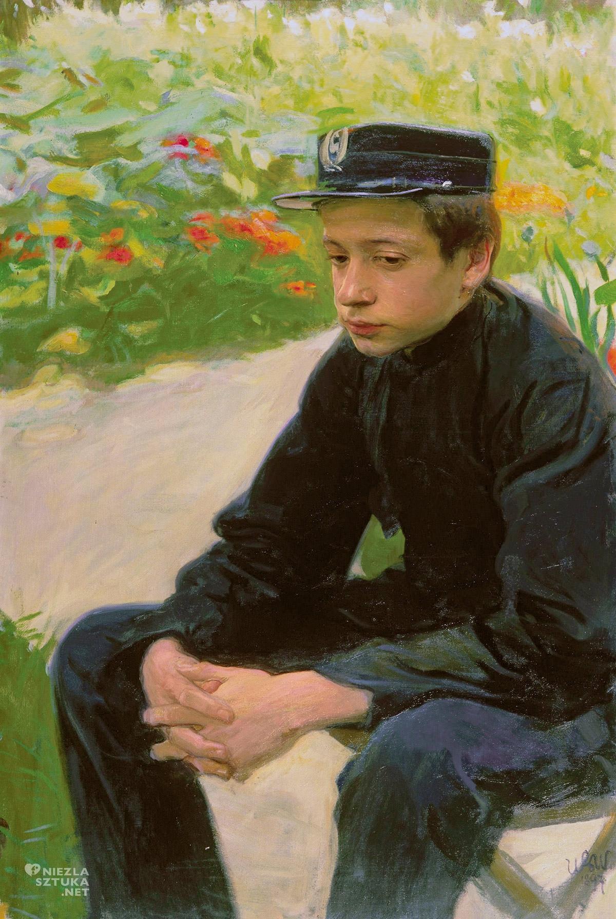 Wojciech Weiss, Student, Wawel, melancholia, sztuka polska, malarstwo polskie, Niezła sztuka