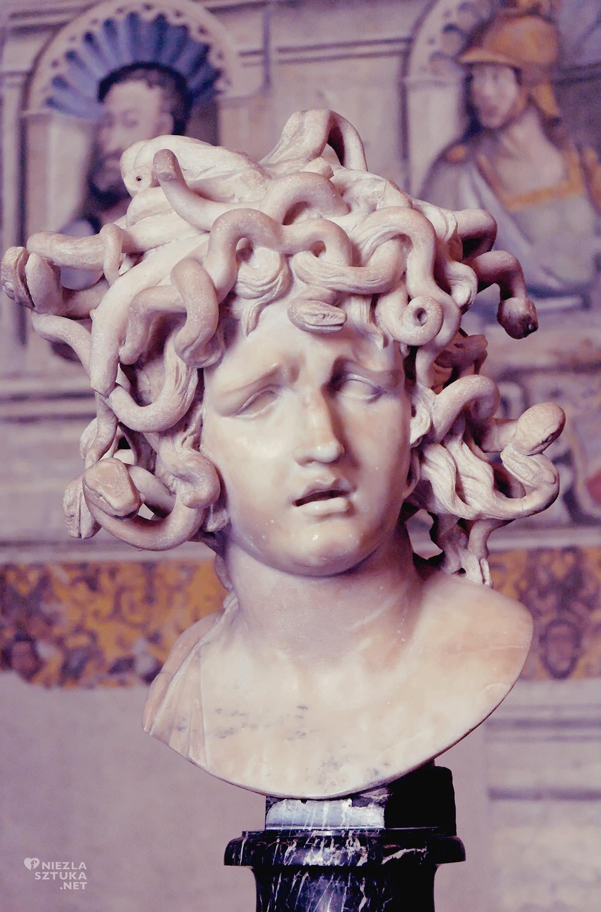 Gian Lorenzo Bernini, Głowa Meduzy, Meduza, Muzea Kapitolińskie, sztuka włoska, rzeźba, Rzym, przewodnik po Rzymie, sztuka w Rzymie, Niezła sztuka