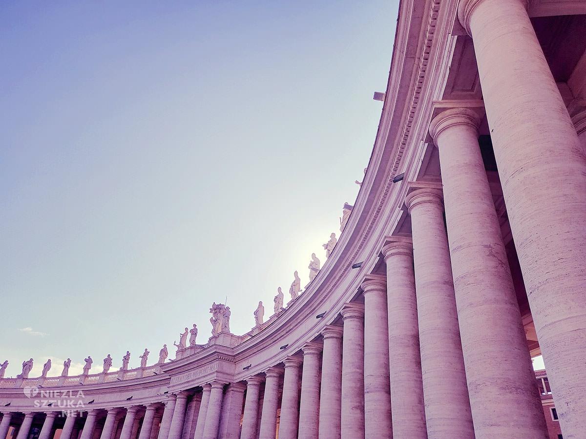 Gian Lorenzo Bernini, kolumnada na placu św. Piotra, sztuka włoska, rzeźba, Rzym, przewodnik po Rzymie, sztuka w Rzymie, Niezła sztuka