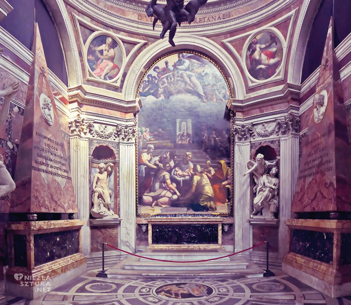 Gian Lorenzo Bernini, kościół Santa Maria del Popolo, kaplica Chigi, sztuka włoska, rzeźba, Rzym, przewodnik po Rzymie, sztuka w Rzymie, Niezła sztuka