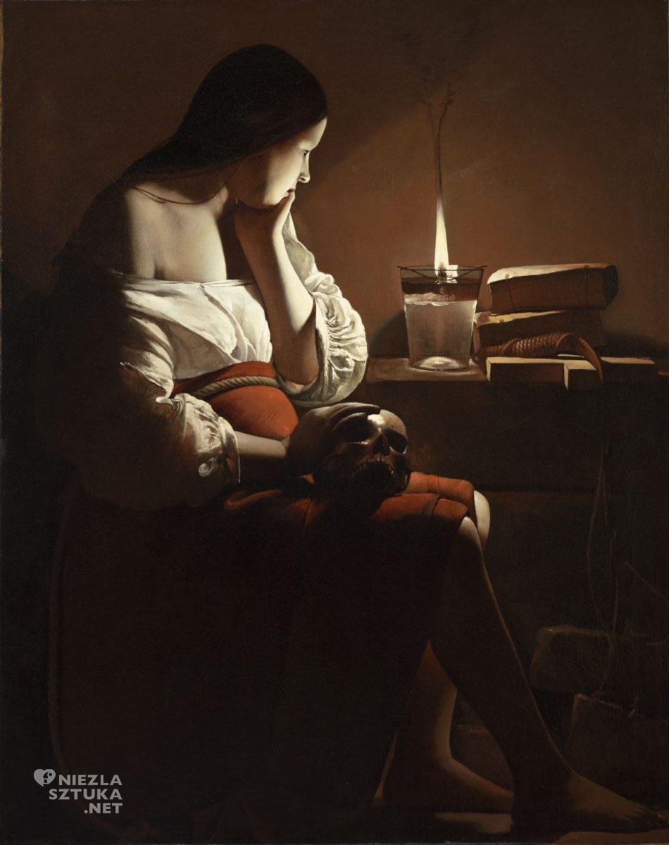 Georges de La Tour, Pokutująca Magdalena, Święta Maria Magdalena, malarstwo francuskie, barok, Niezła sztuka