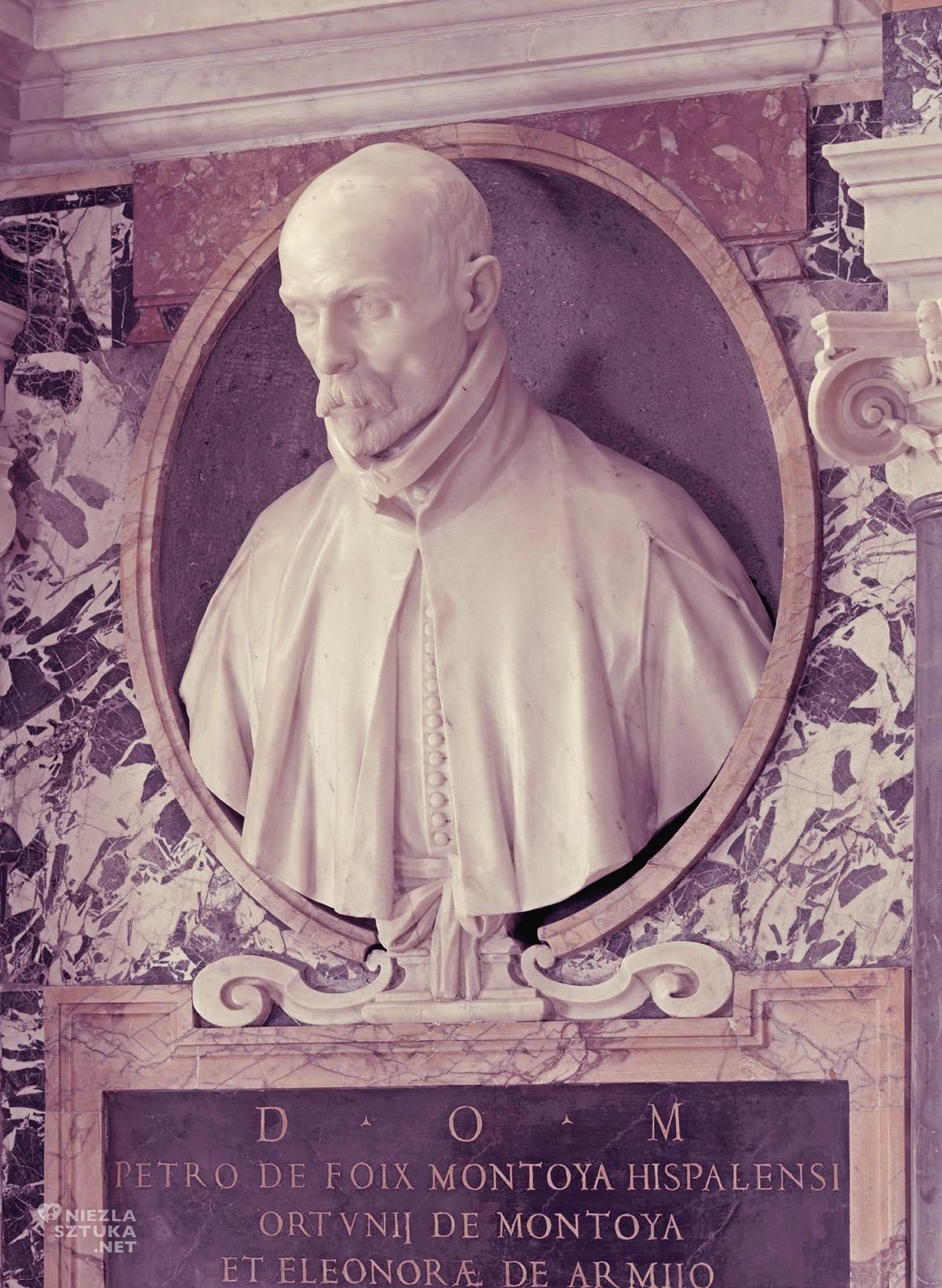 Gian Lorenzo Bernini, Nagrobek Pedra de Montoya, kościół Santa Maria di Monserrato, sztuka włoska, rzeźba, Rzym, przewodnik po Rzymie, sztuka w Rzymie, Niezła sztuka