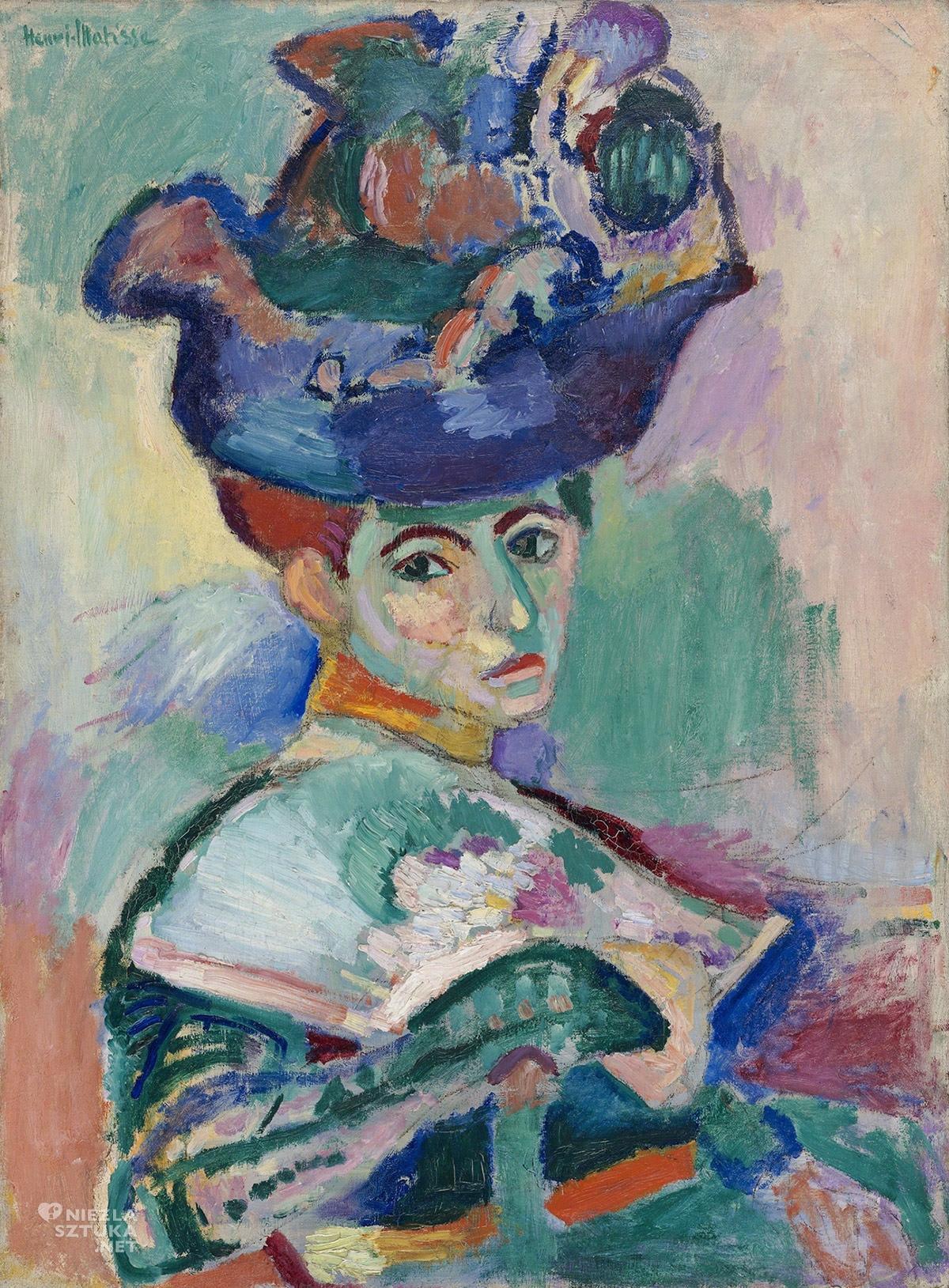 Henri Matisse, Kobieta w kapeluszu, malarstwo francuskie, Niezła sztuka
