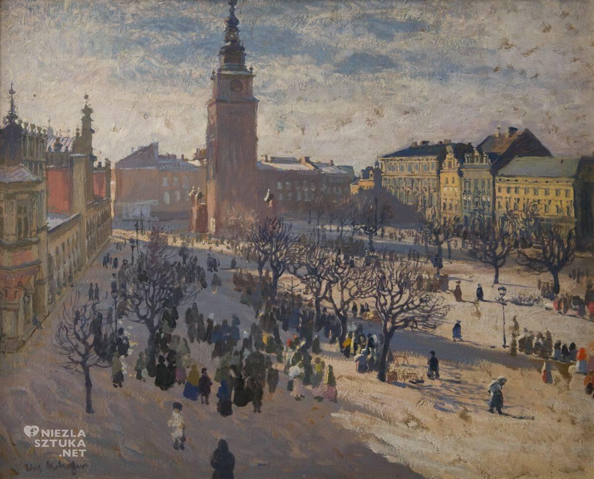 Józef Mehoffer, Rynek krakowski, sztuka polska, malarstwo polskie, Niezła sztuka