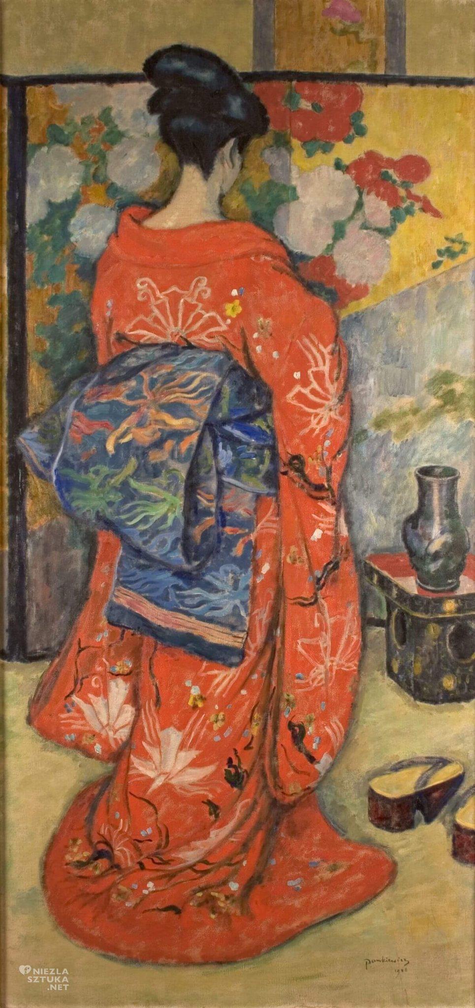 Józef Pankiewicz, Japonka, kobieta, sztuka polska, malarstwo polskie, Niezła sztuka