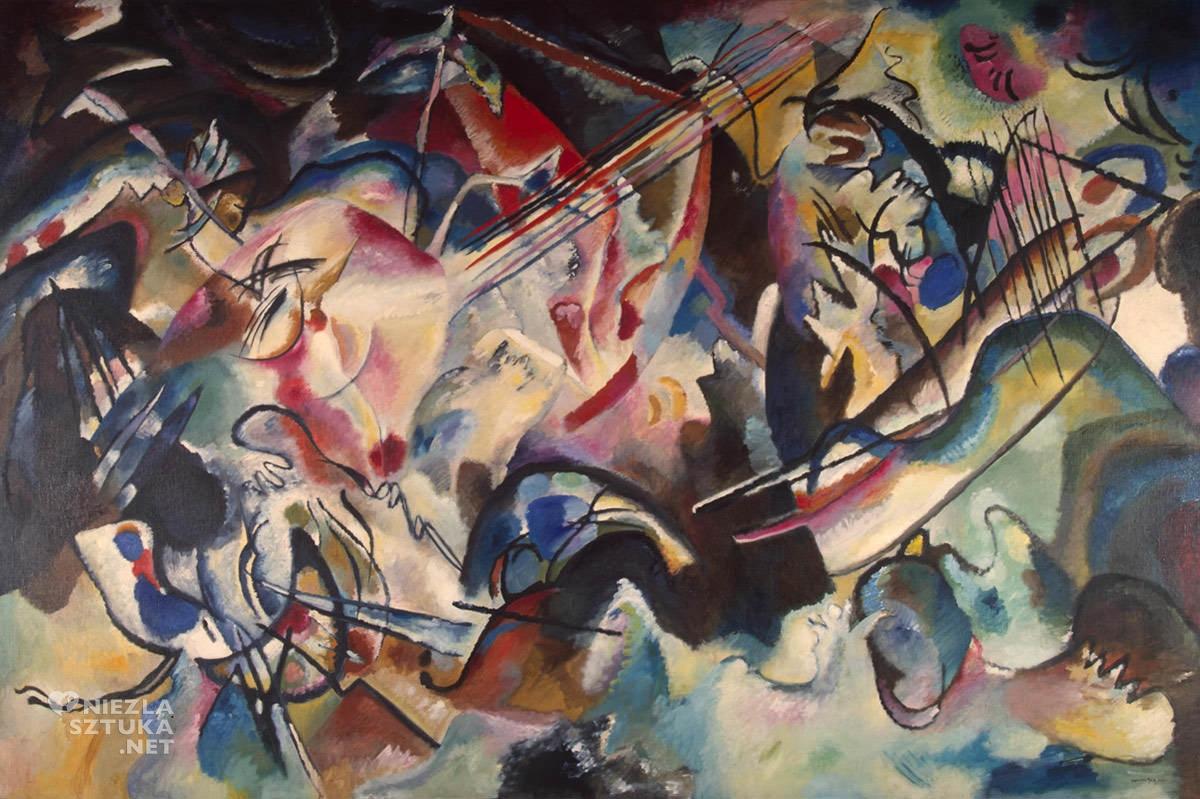 Wassily Kandinsky, Kompozycja VI, sztuka rosyjska, malarz rosyjski, abstrakcjonizm, ekspresjonizm, Niezła sztuka