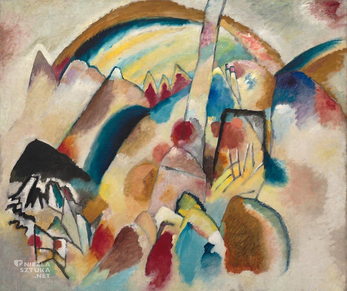 Wassily Kandinsky, Krajobraz z czerwonymi plamkami, Peggy Guggenheim Collection, sztuka współczesna, abstrakcja, Niezła Sztuka