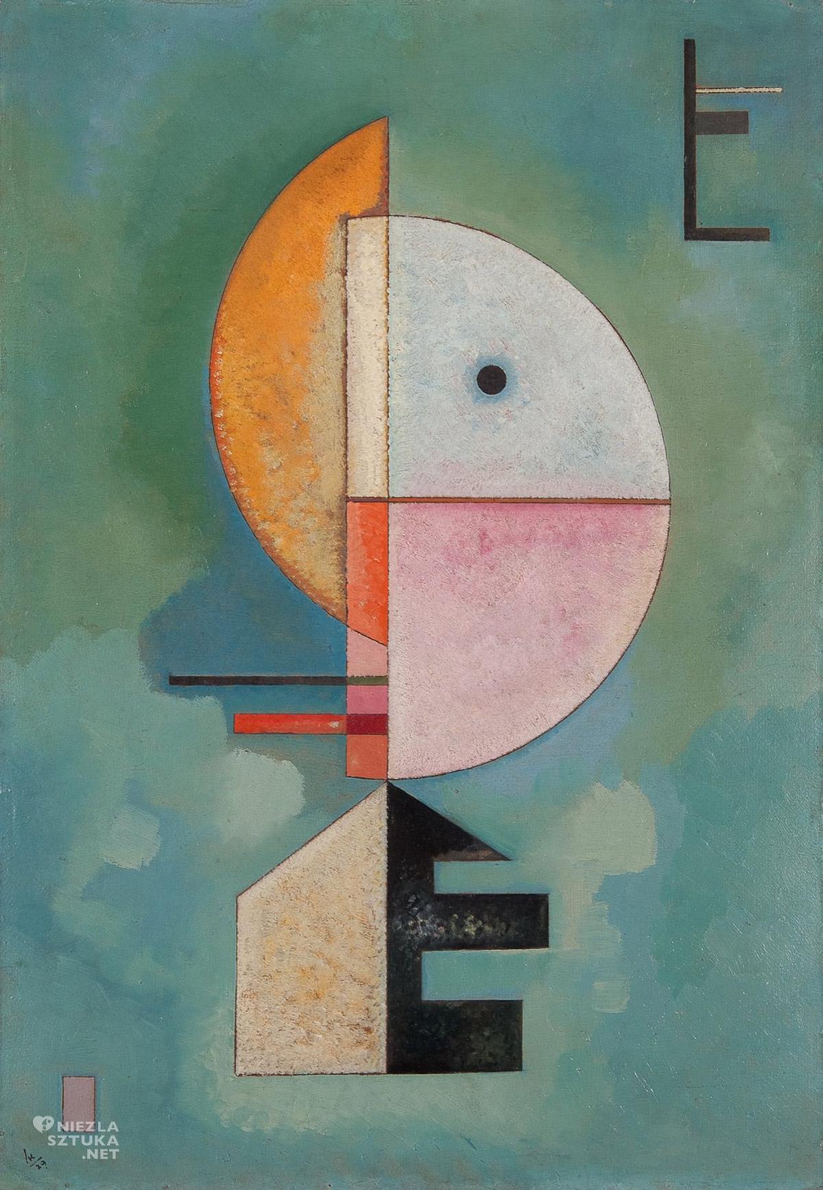 Wassily Kandinsky, Do góry, sztuka rosyjska, abstrakcja, Peggy Guggenheim Collection, Niezła Sztuka