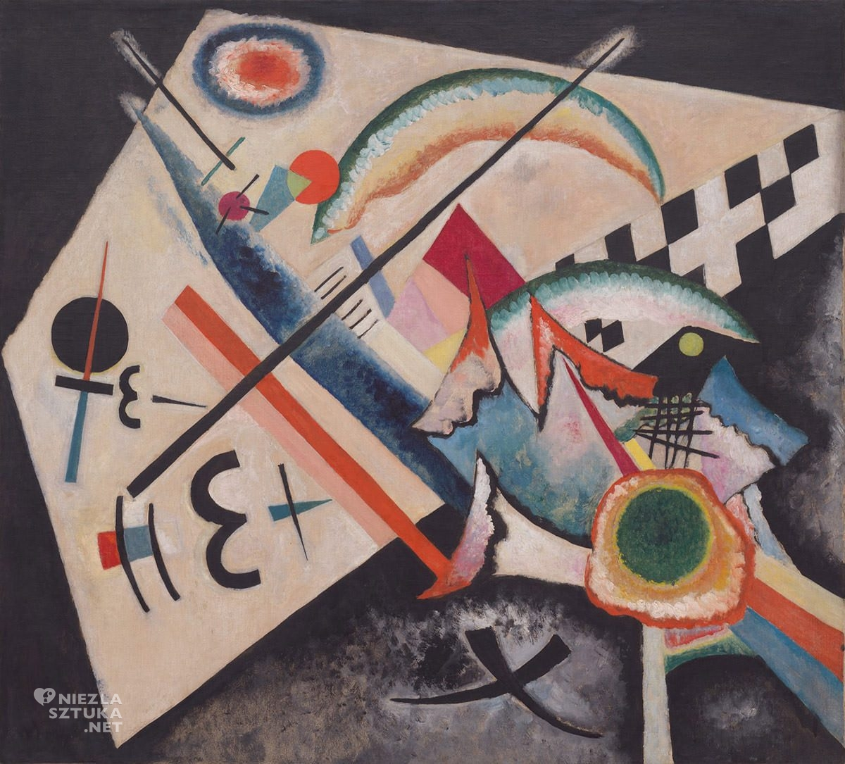 Wassily Kandinsky, Biały krzyż, sztuka rosyjska, abstrakcja, Niezła Sztuka