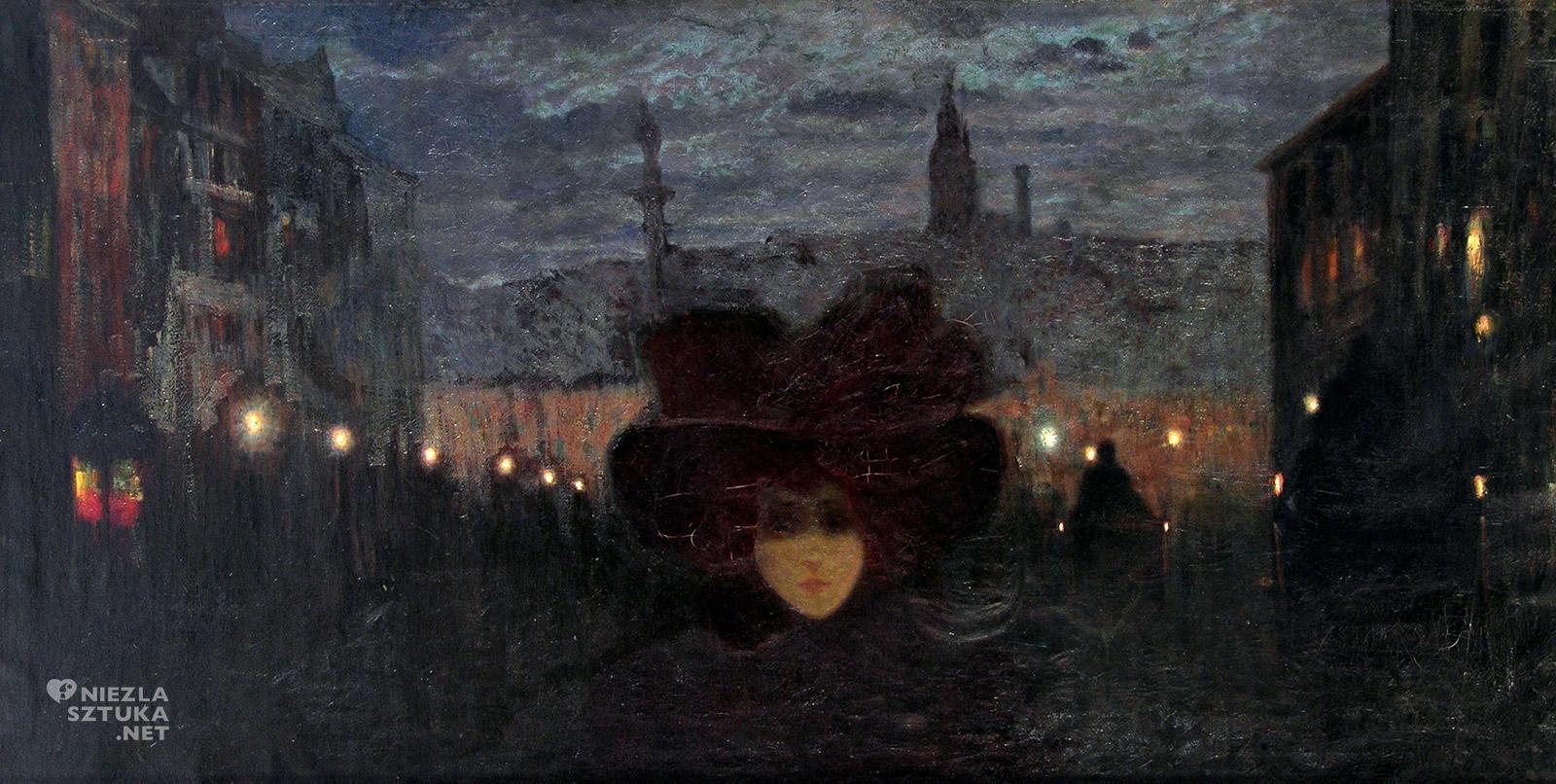 Leon Kaufmann, ćma nocna, muzeum mazowieckie w płocku, malarstwo polskie, sztuka polska, Niezła sztuka