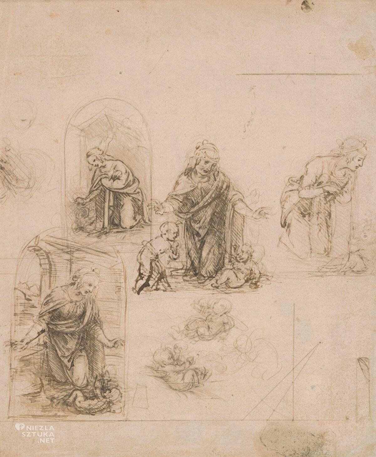 Leonardo da Vinci, studium, sztuka włoska, Madonna wśród skał, Niezła sztuka