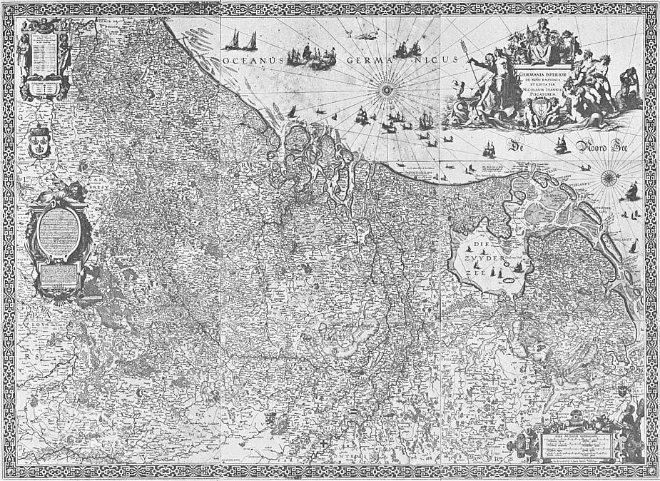 Claes Janszoon Visscher, mapa niderlandów, Niezła sztuka