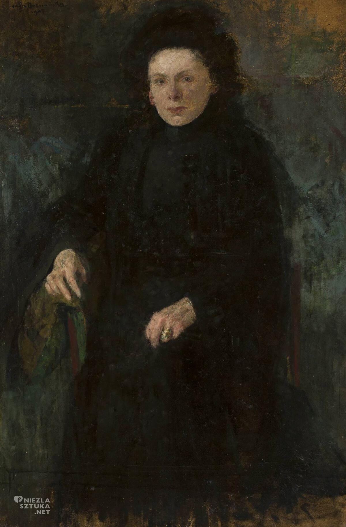 Olga Boznańska, Portret panny Jadwigi Paparówny, japonizm w sztuce polskiej, sztuka polska, Niezła sztuka