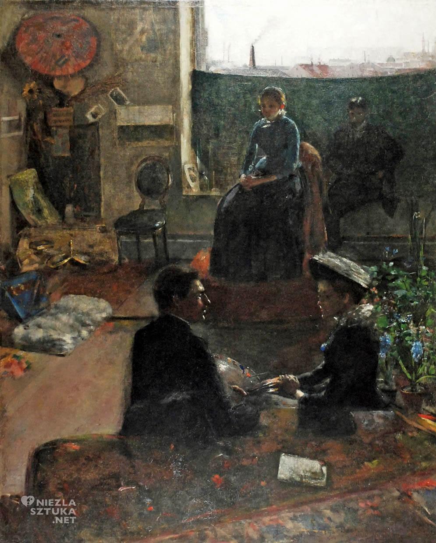 Olga Boznańska, W atelier, sztuka polska, Niezła sztuka