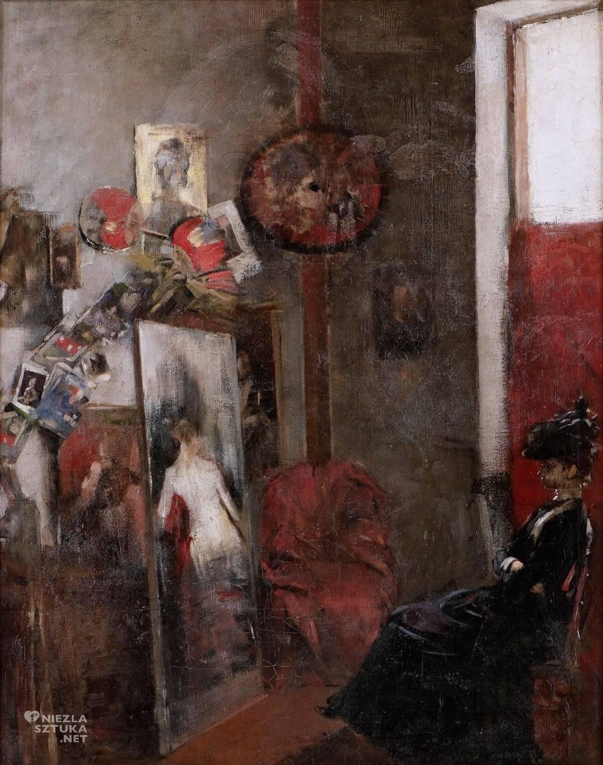 Olga Boznańska, W pracowni, Muzeum Lubelskie, sztuka polska, Niezła sztuka