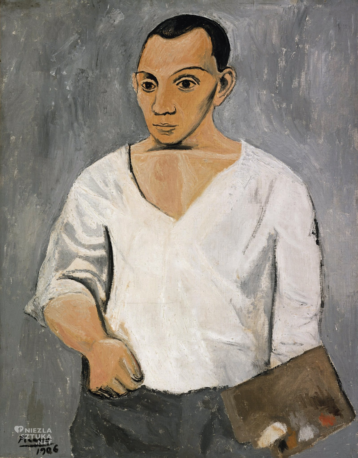 Pablo Picasso, Autoportret z paletą, Niezła sztuka