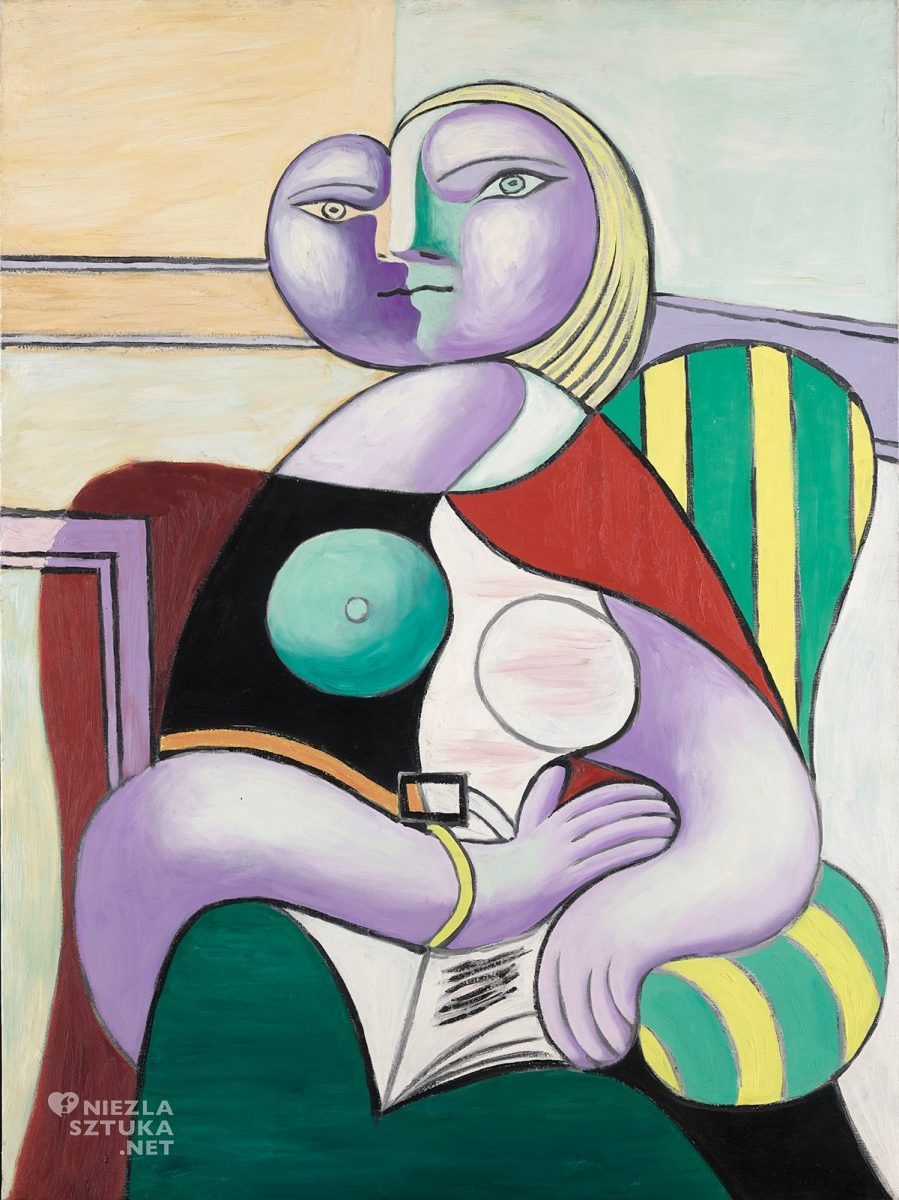 Pablo Picasso, Czytająca, portret, kobieta, Niezła sztuka