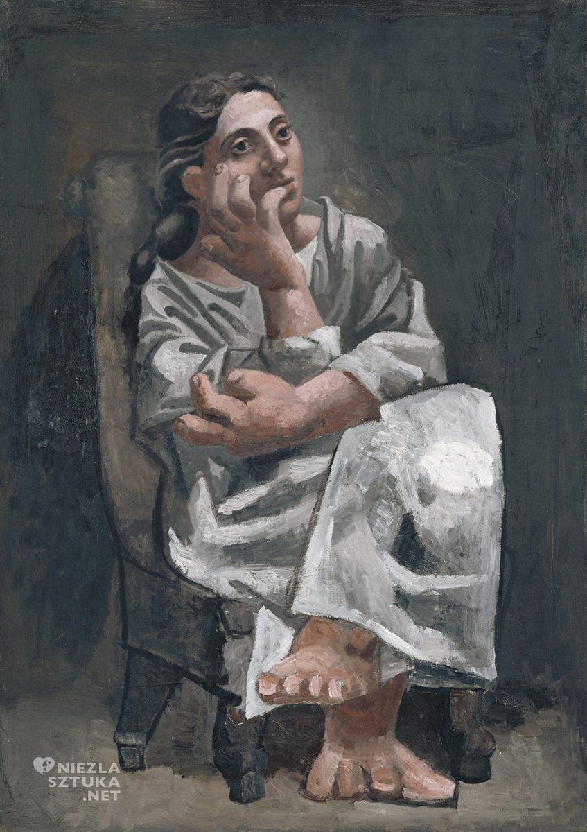 Pablo Picasso, Siedząca kobieta, Niezła sztuka