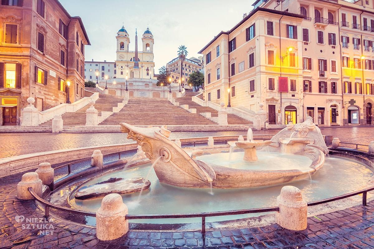 Pietro Bernini, fontanna Barcaccia na Piazza di Spagna, Rzym, Gian Lorenzo Bernini, sztuka włoska, rzeźba, przewodnik po Rzymie, sztuka w Rzymie, Niezła sztuka