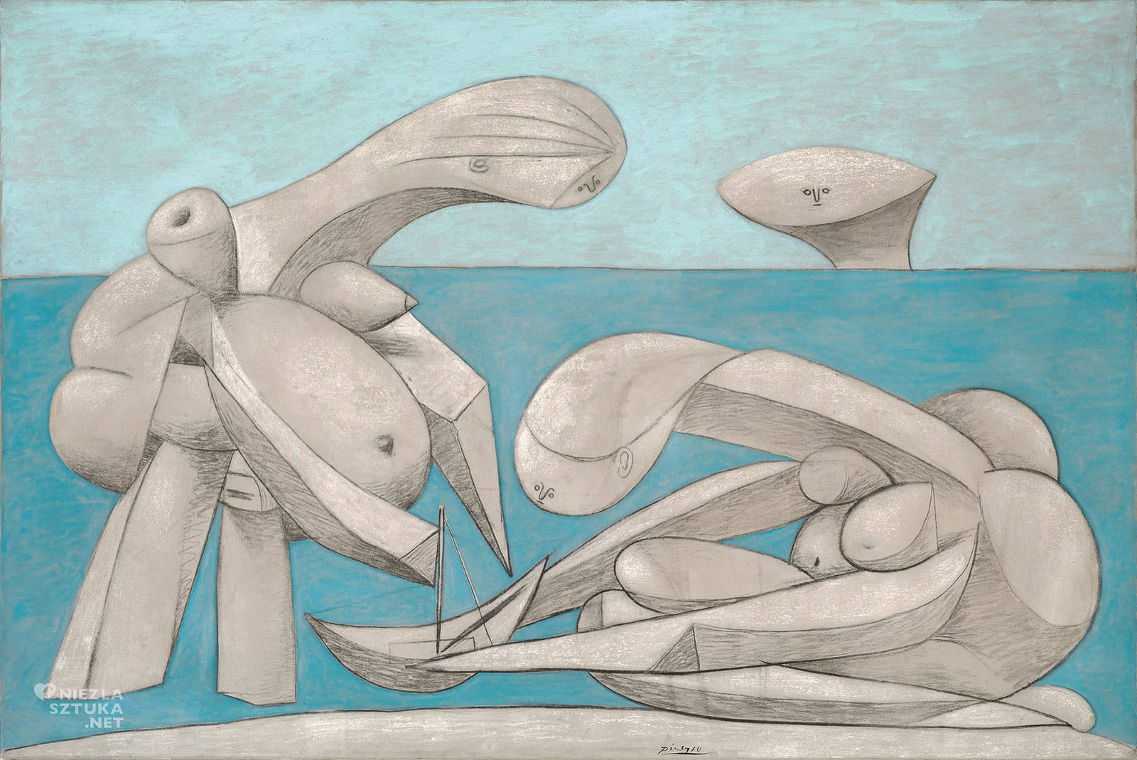 Pablo Picasso, Na plaży, kubizm, Niezła Sztuka