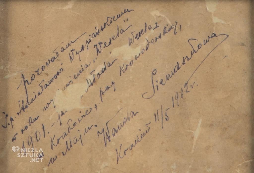 Stanisław Wyspiański, Wanda Siemaszkowa, portret, sztuka polska, Wesele dramat, Niezła sztuka