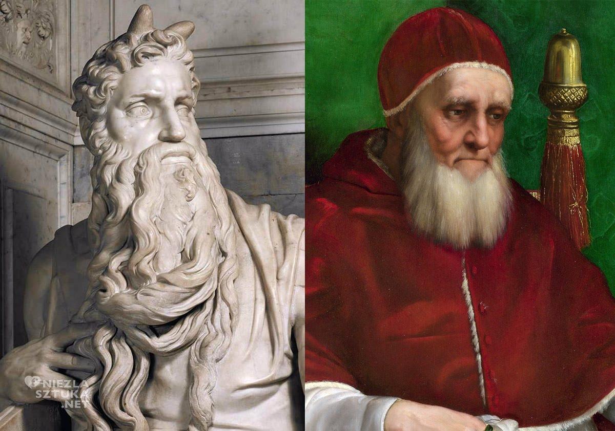 michał anioł, rafael, papież, Juliusz II, niezła sztuka