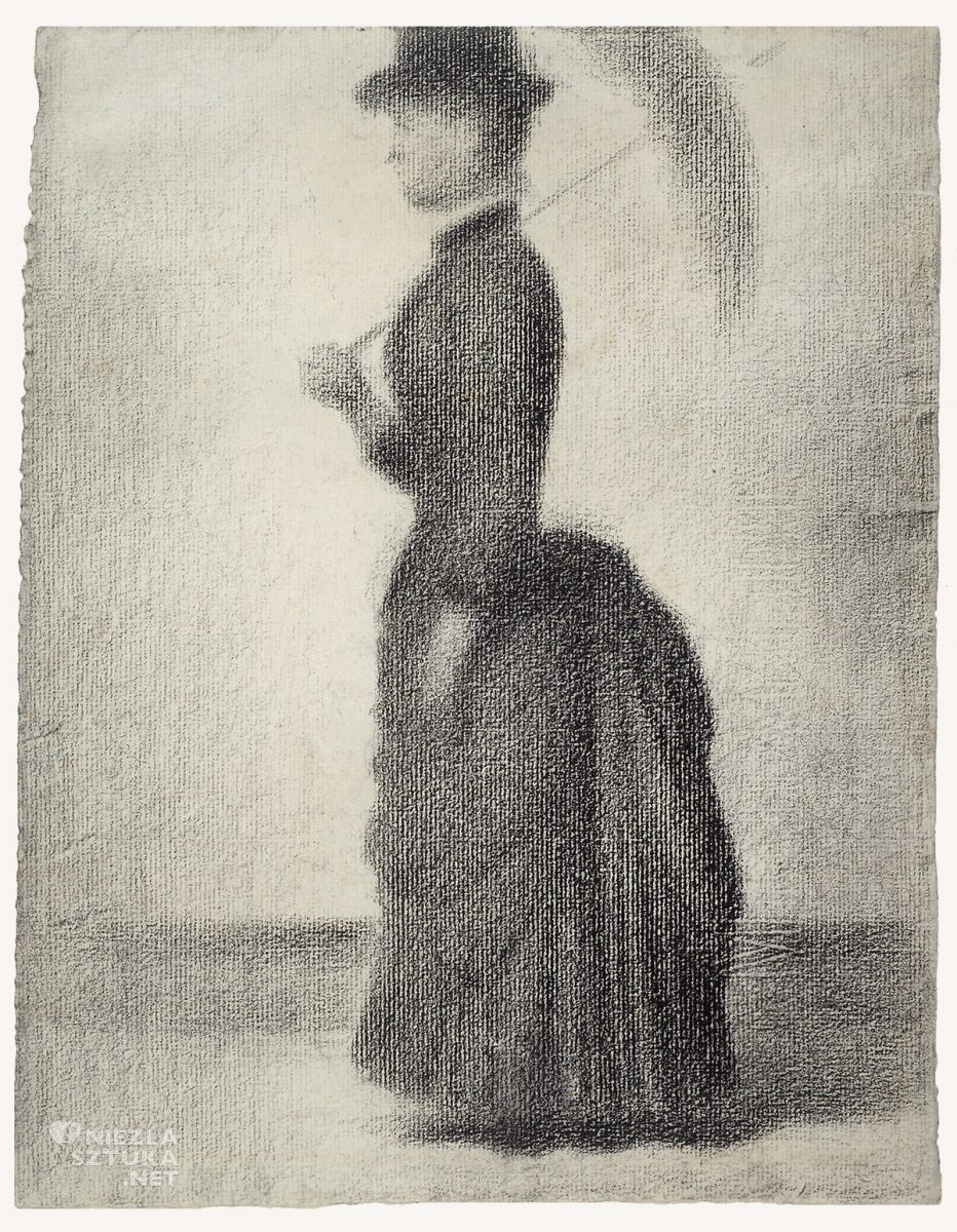 Georges Seurat, Niedzielne popołudnie na wyspie Grande Jatte, studium, sztuka francuska, malarstwo francuskie, neoimpresjonizm, pointylizm, Niezła sztuka
