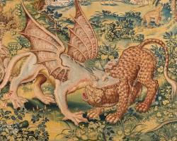Arras, arrasy wawelskie, Walka smoka z panterą, Zamek Królewski na Wawelu, Niezła sztuka