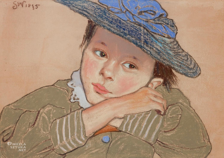 Stanisław Wyspiański, Dziewczynka w niebieskim kapeluszu, sztuka polska, Niezła sztuka