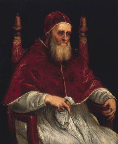 Tycjan, Portret Papieża Juliusza II, papież Juliusz II, malarstwo włoskie, sztuka włoska, Palazzo Pitti, Florencja, Niezła stuka