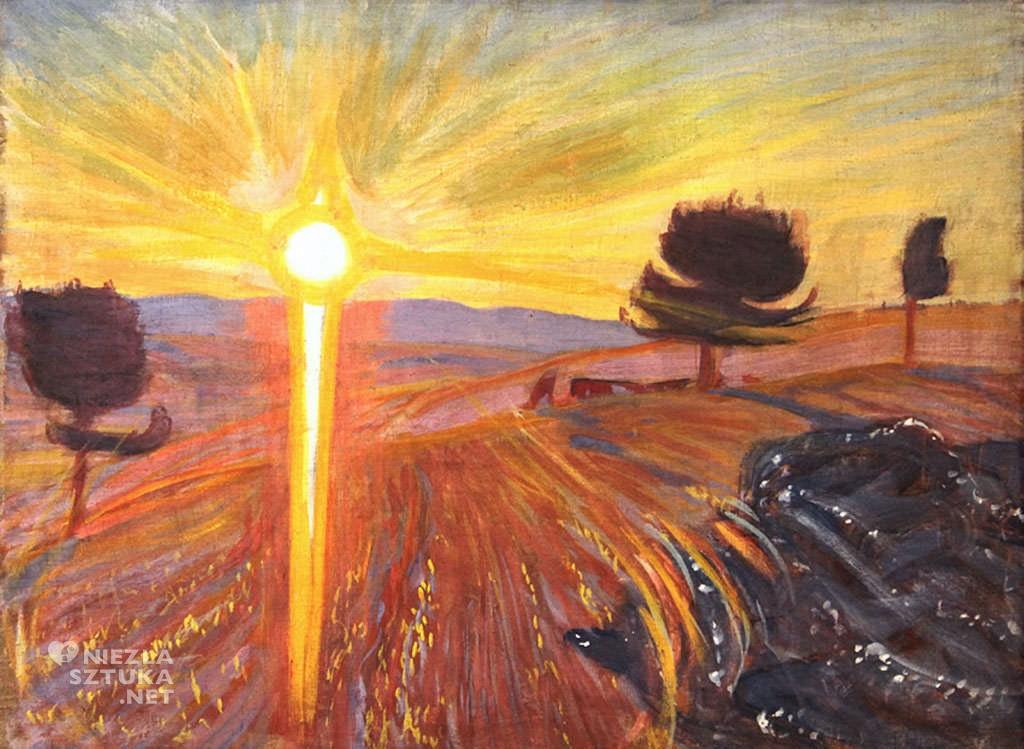 Wojciech Weiss, Promienny zachód słońca, sztuka polska, Niezła sztuka