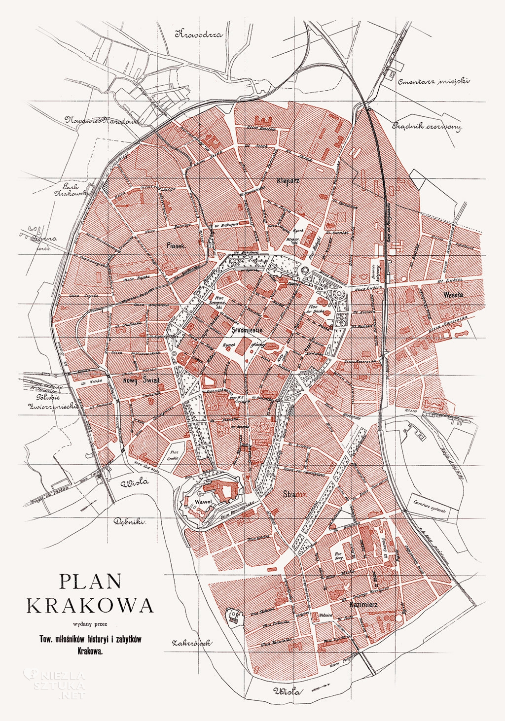1900 rok, kraków, mapa, Niezła sztuka