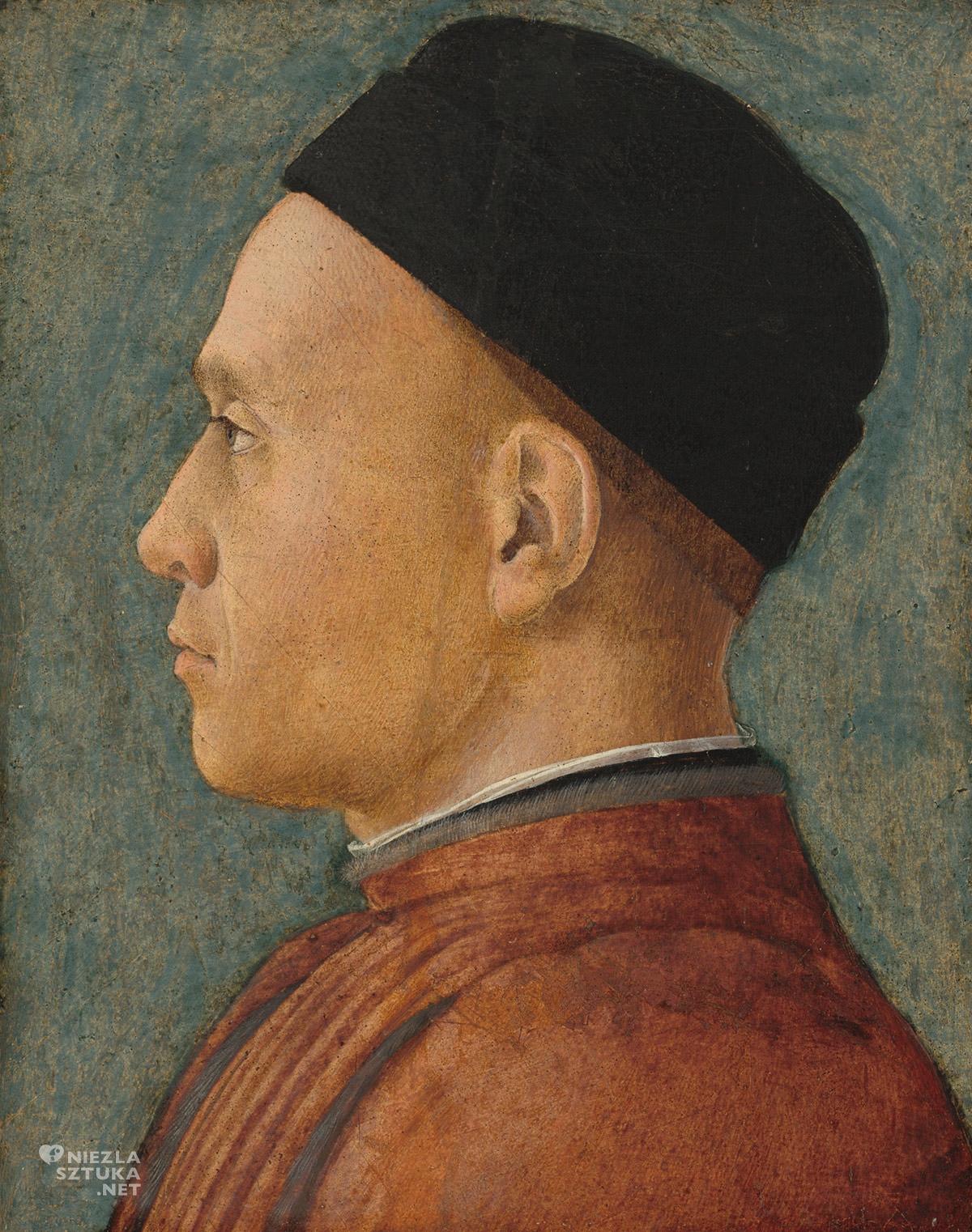 Andrea Mantegna, Portret mężczyzny, sztuka włoska, Niezła sztuka