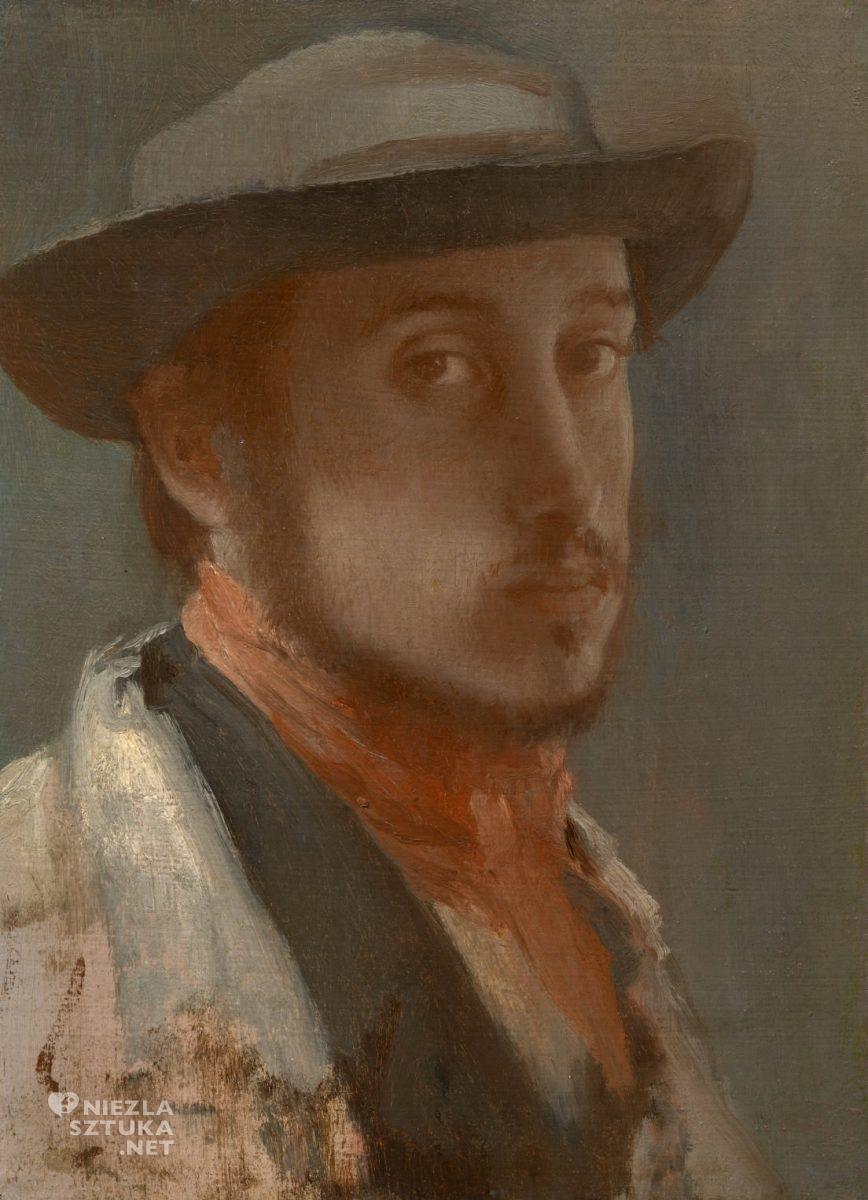 Edgar Degas, Autoportret w kapeluszu, Niezła sztuka