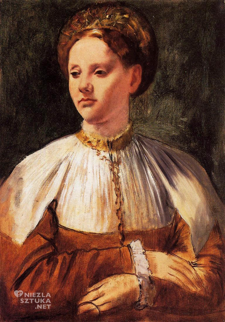 Edgar Degas, Portret młodej kobiety, Bacchiacca, Niezła sztuka