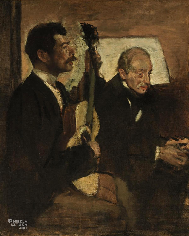 Edgar Degas, Ojciec artysty słuchający grającego na gitarze Lorenzo Pagansa, Niezła sztuka