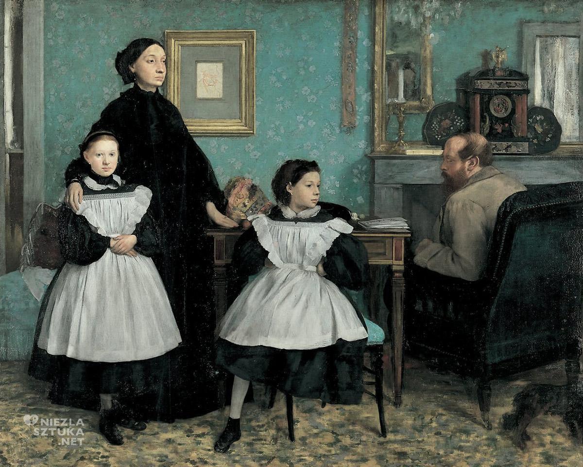 Edgar Degas, Rodzina Bellellich, portret, Niezła sztuka