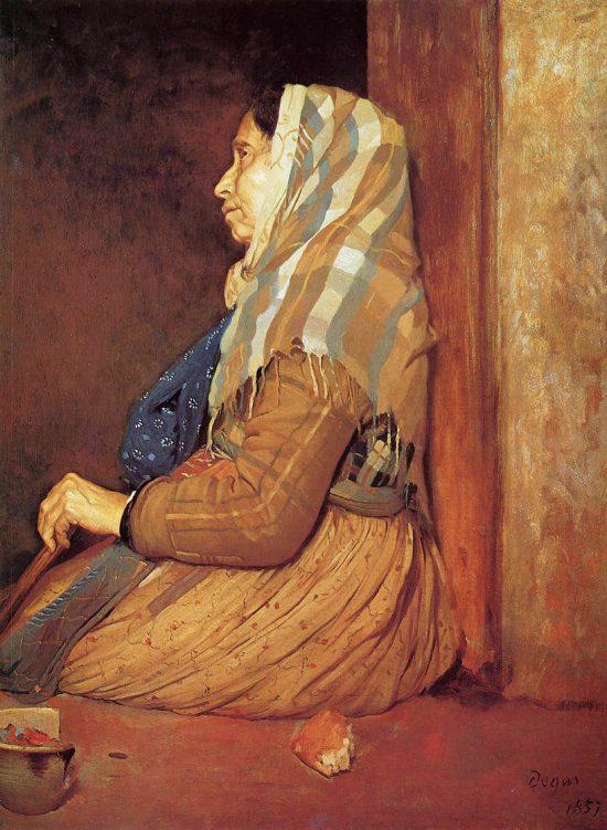 Edgar Degas, Rzymska żebraczka, Niezła sztuka