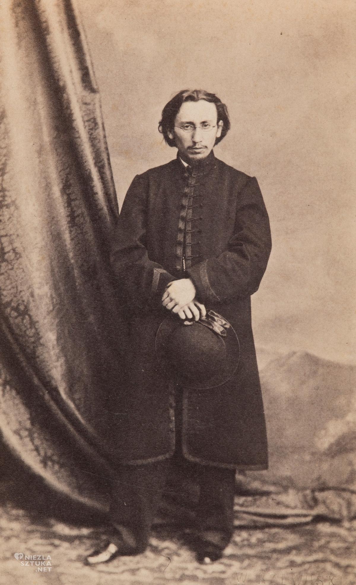 Jan Matejko przy kotarze, fotografia, Muzeum Narodowe w Krakowie