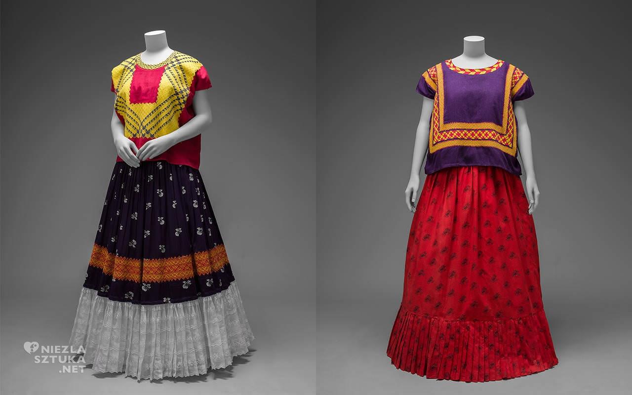 Frida Kahlo, moda, tradycyjne stroje, folklor, Meksyk, Niezła Sztuka
