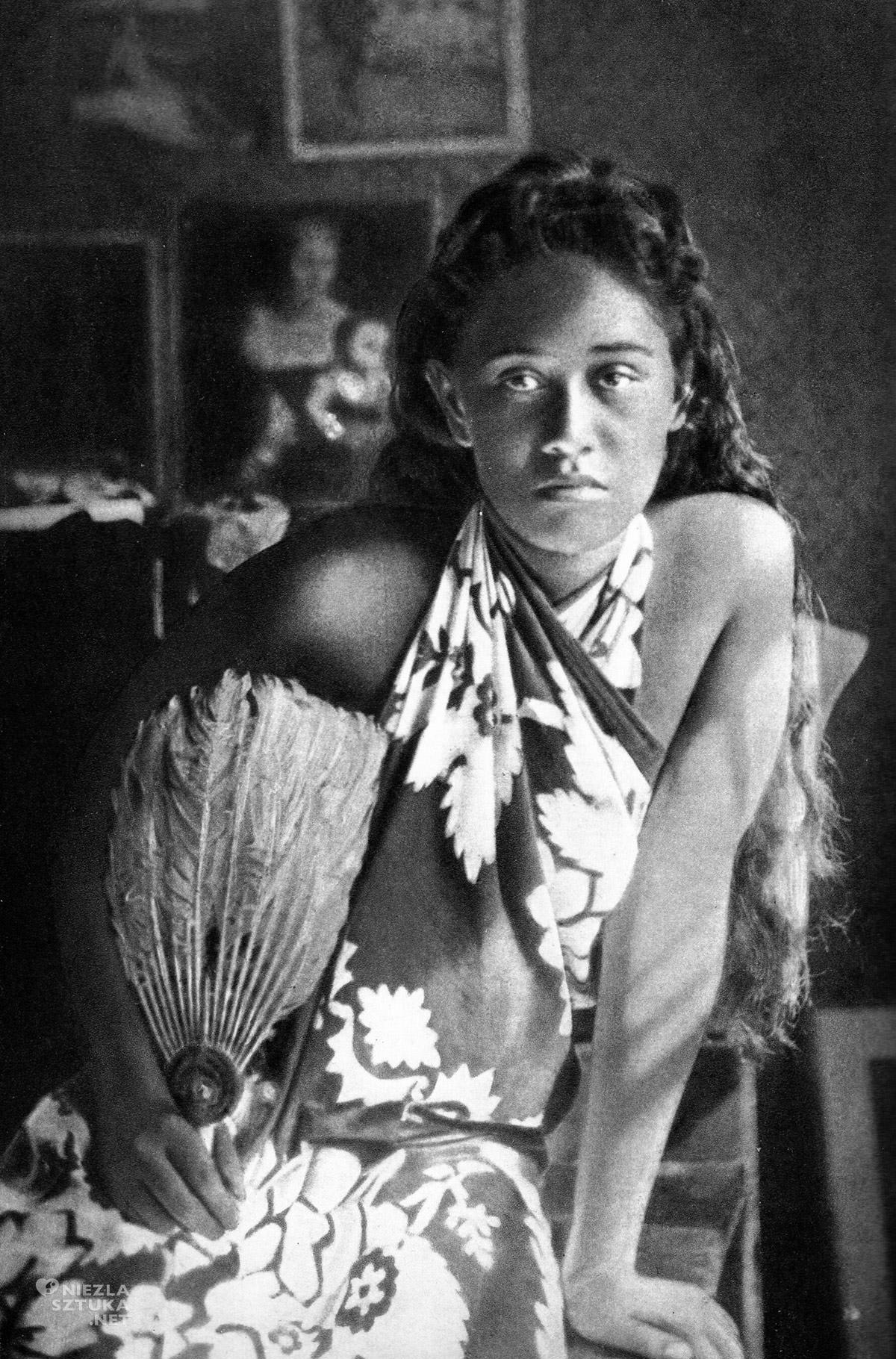 Louis Grelet, Tohotaua, Paul Gauguin, Tahiti, kobieta, modelka, Niezła Sztuka