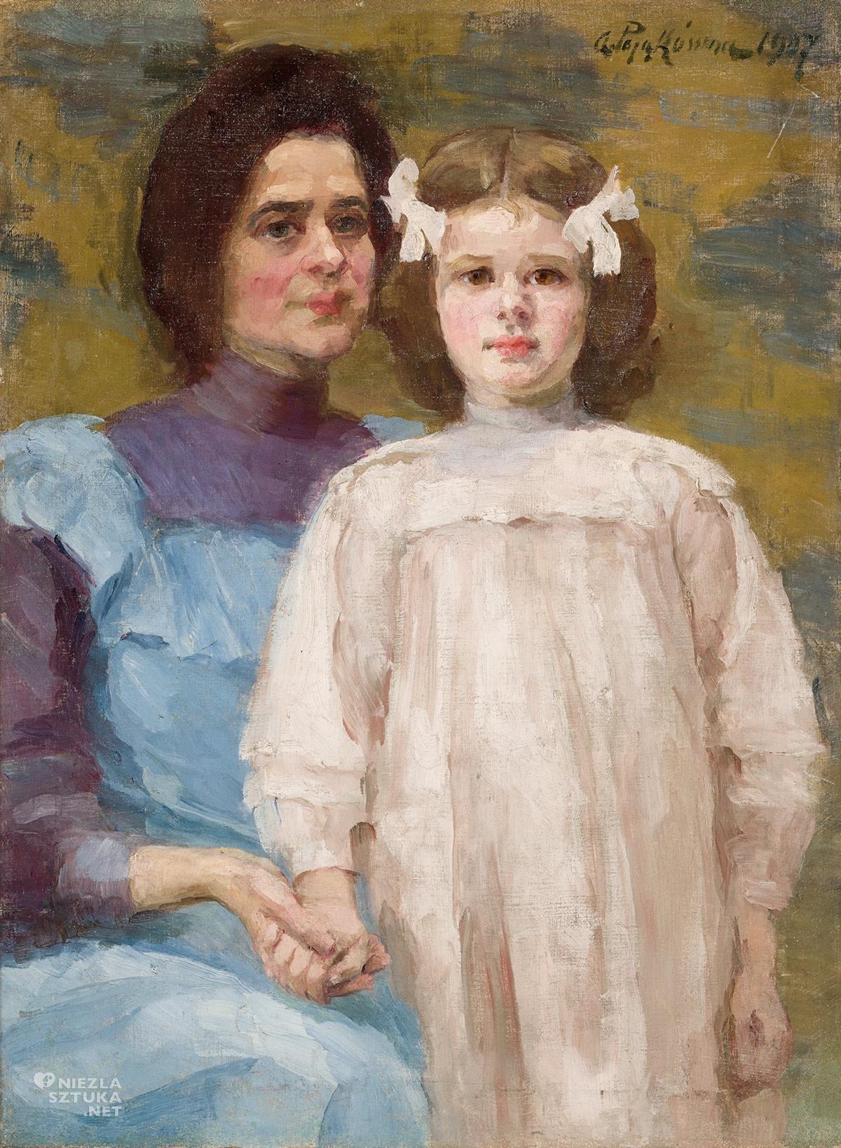 Aniela Pająkówna, Autoportret z córką, malarka, artystka, Muzeum Narodowe w Krakowie, Niezła sztuka