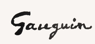 Paul, Gauguin, autograf, Niezła sztuka
