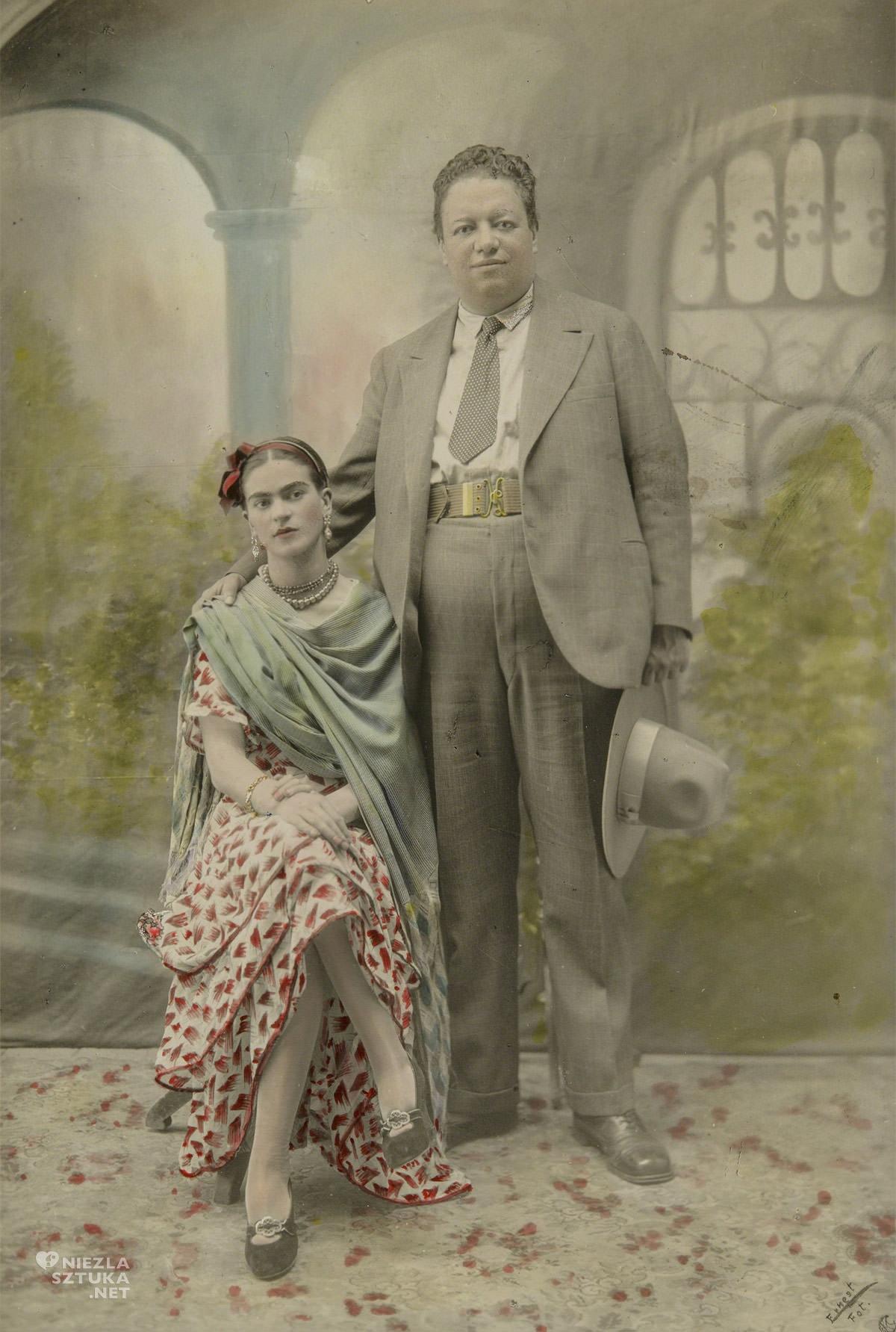 Frida Kahlo, Diego Rivera, ślub, zdjęcie ślubne, Boston, museum, Niezła sztuka