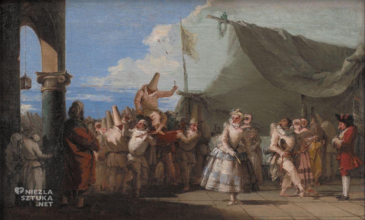 Giovanni Domenico Tiepolo, Triumf Pulcinelli, Pulcinella, Niezła sztuka