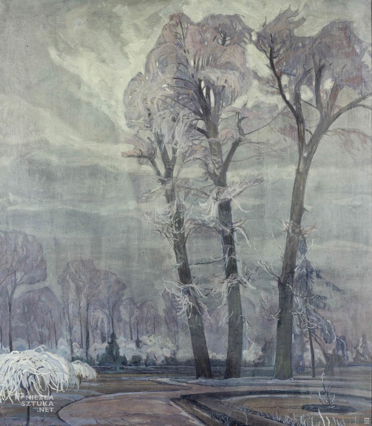 Henryk Szczygliński, Park Łazienkowski nocą, Muzeum Narodowe w Kielcach, Niezła sztuka