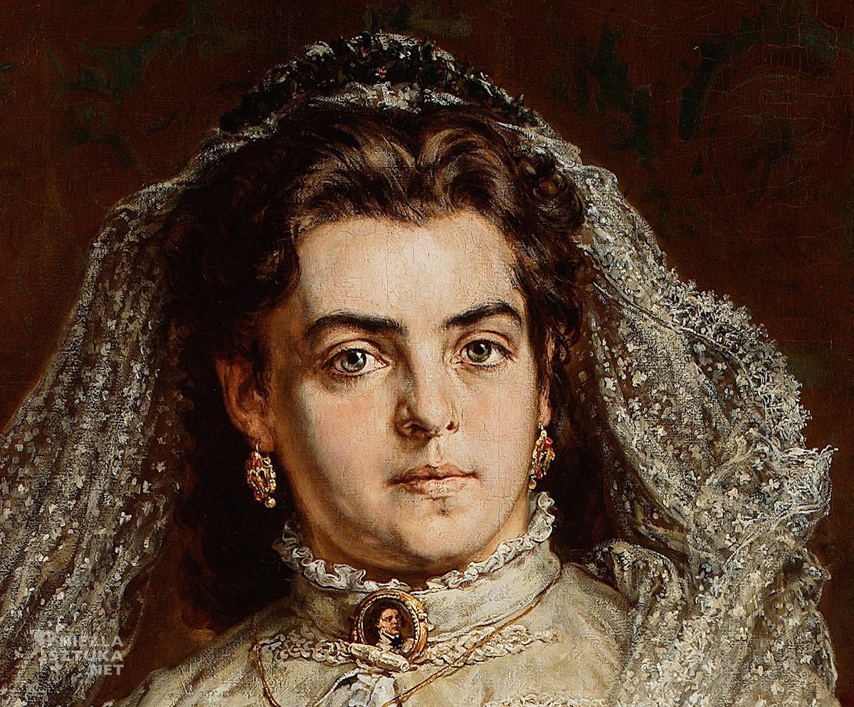 Jan Matejko, Portret żony artysty, Teodora z Giebułtowskich, sztuka polska, malarstwo polskie, Niezła sztuka