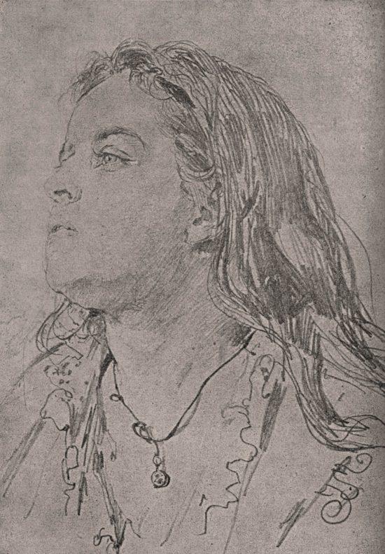 Jan Matejko, Teodora Matejko, rysunek, żona artysty, Niezła Sztuka